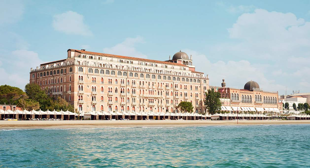The view from the sea of Hotel Excelsior Venice Lido Resort | 5-star Hotel in Venice Lido, Italy