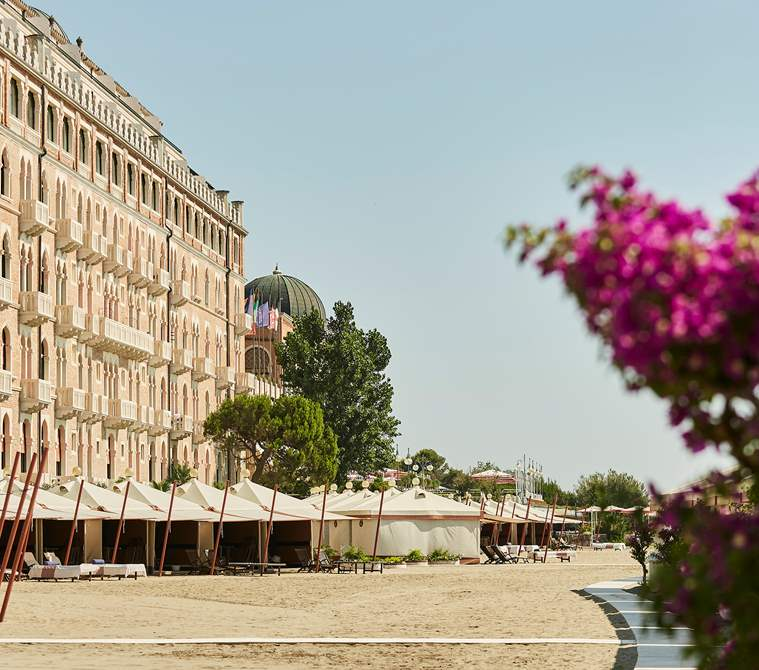 The view from the beach of Hotel Excelsior Venice Lido Resort | Beach Resort in Venice, Italy