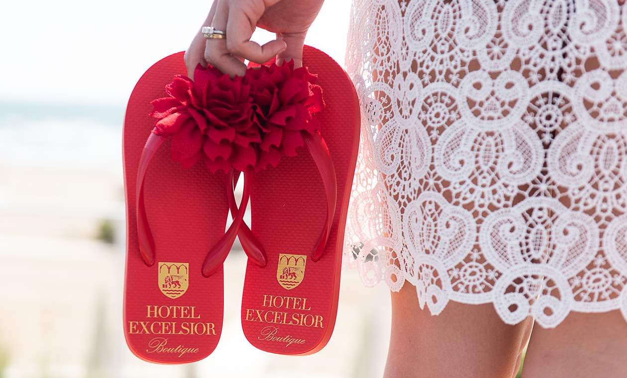The accessories for the guests at Hotel Excelsior Venice Lido Resort, 5-star Hotel in Venice, Italy